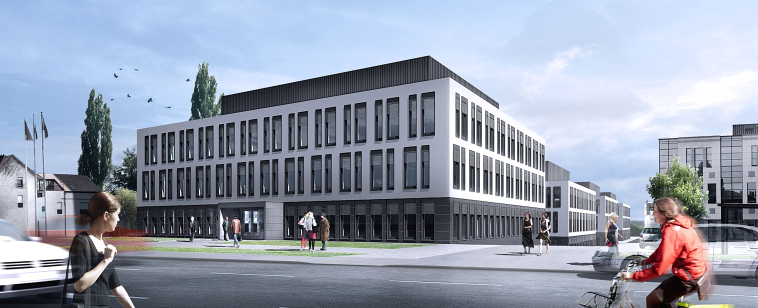 Immeuble de bureaux serenity strassen milestone for Immeuble bureaux hqe
